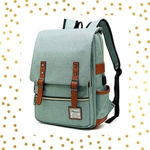 Handbags - Cute Slim Laptop Backpack with USB Charging Port